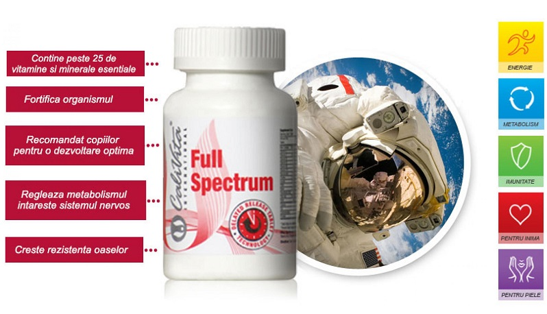 Full Spectrum Calivita complex vitamine si minerale
