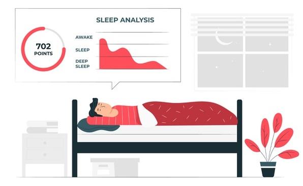 Barbat dormin in pat studiu privind timpul dormit