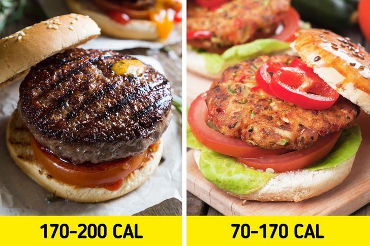 burger cu carne versus burger vegan calorii mai putine poti sa slabesti