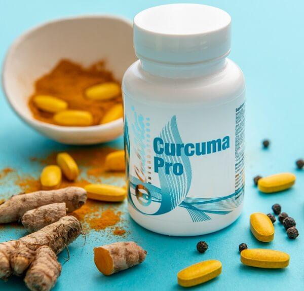 Curcuma Pro Calivita flacon si tablete, piper negru radacina de turmeric