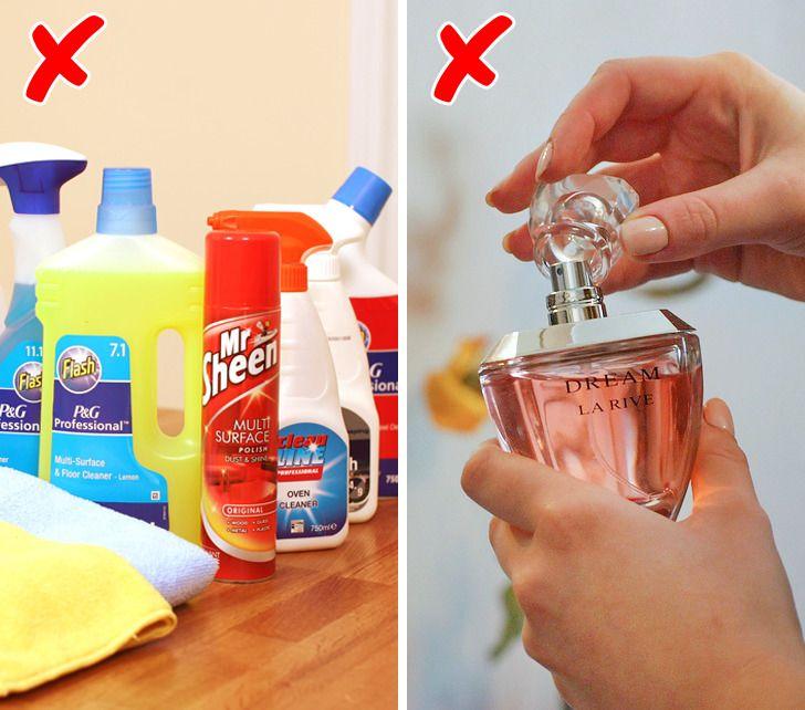 produse de curatat si parfum mirosuri puternice