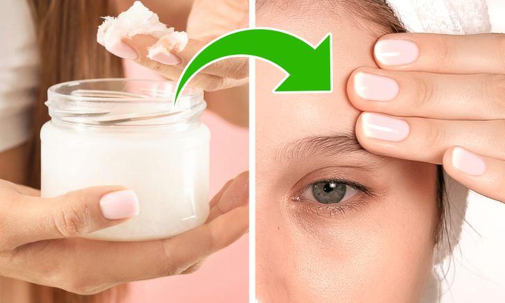 ulei de cocos alb cum sa aplici pe frunte