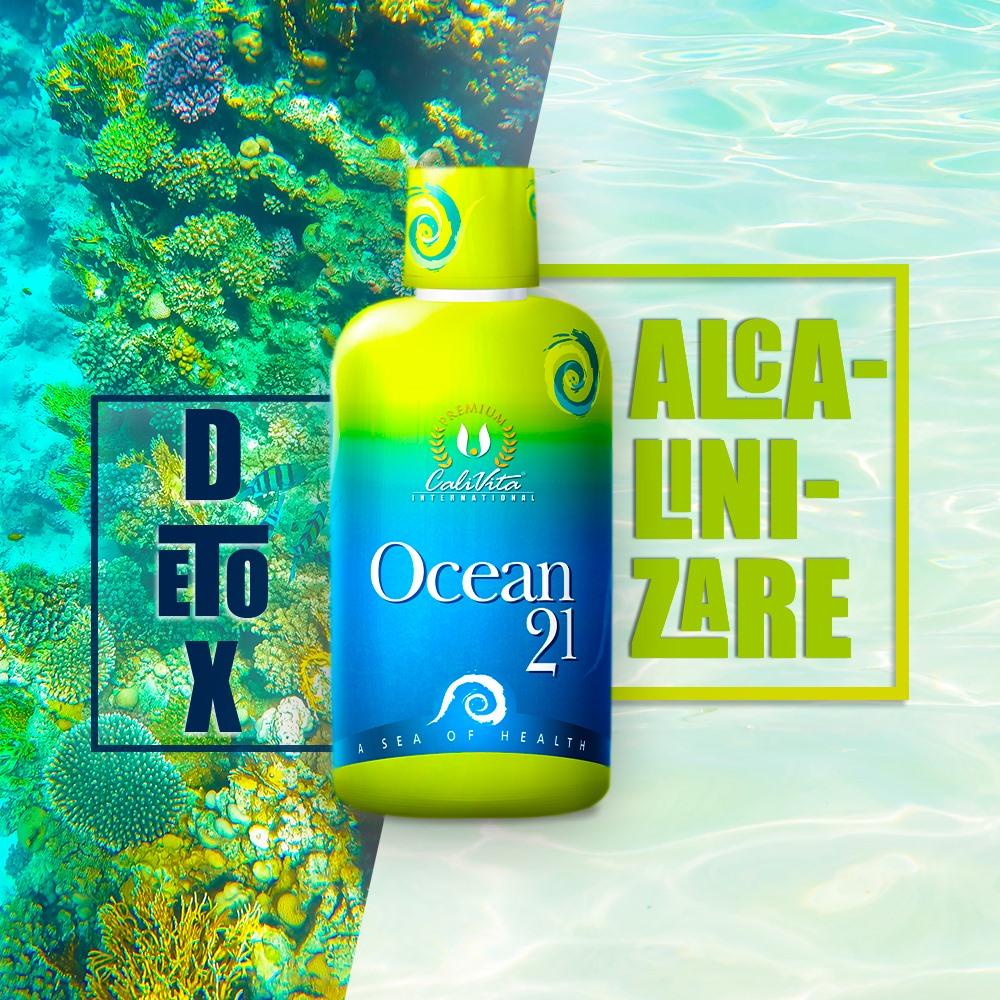 Ocean 21 produs Calivita cu Aloe Vera si alge marine. Suc la flacon de 1litru