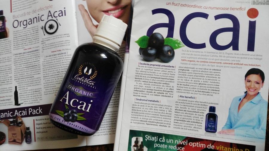 Flacon Acai Organic Suc Calivita pe revista
