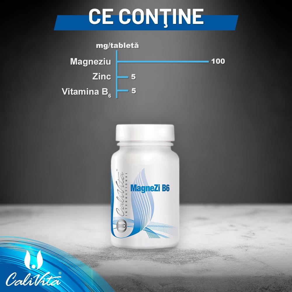 Flacon cu magneziu, zinc si vitamina B6 de la Calivita