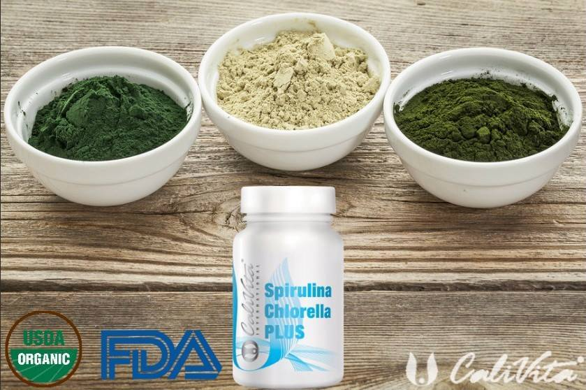 Spirulina Chlorella Flacon 100 tablete de la Calivita